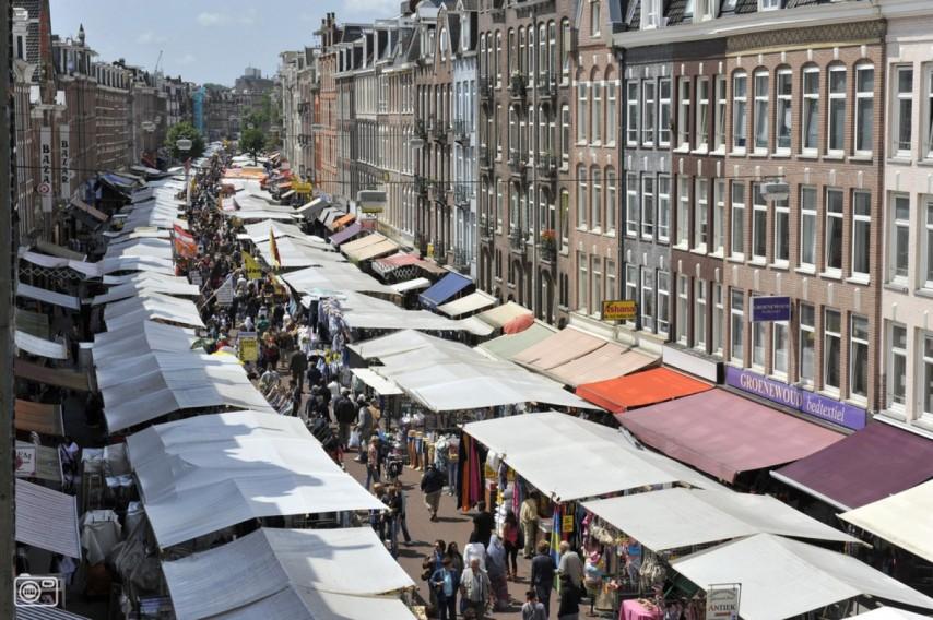 Albert Cuyp Markt en Ámsterdam
