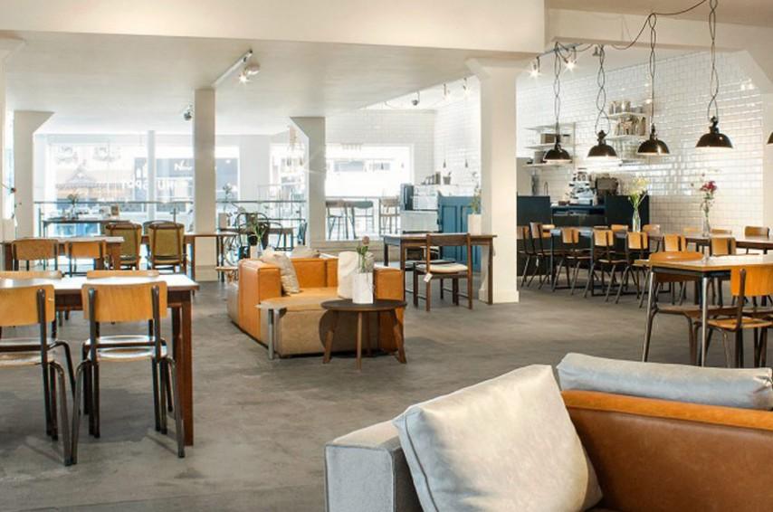 Interior de la concept store Hutspot en Ámsterdam
