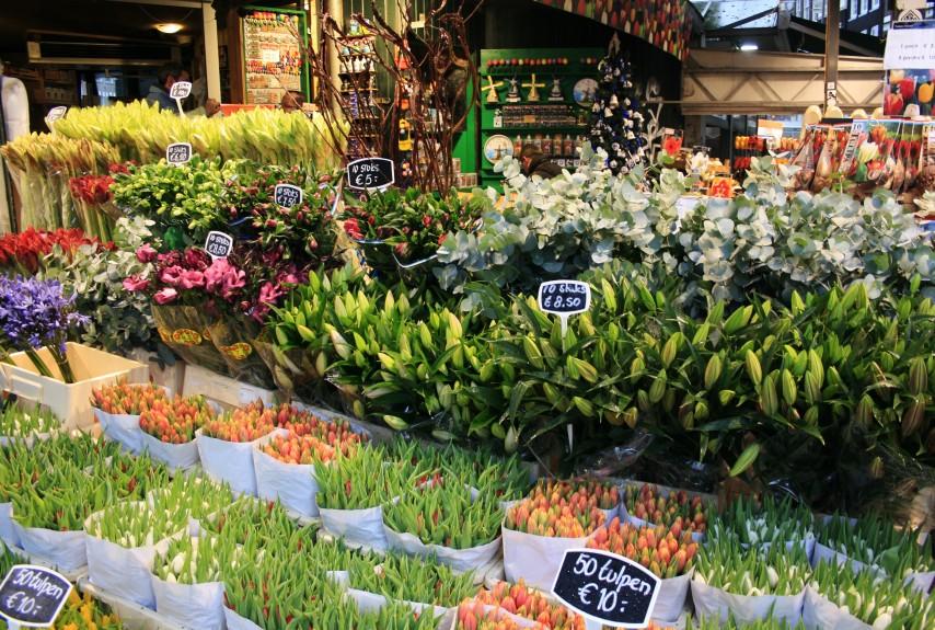 Bloemenmarkt, el mercado de las flores en Ámsterdam