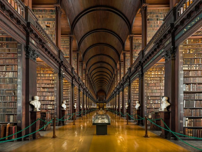 La biblioteca más antigua de Irlanda en Dublín