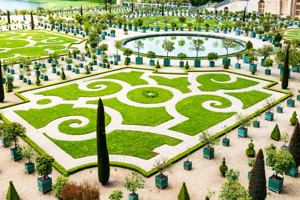 Orangerie en los jardines de Versalles