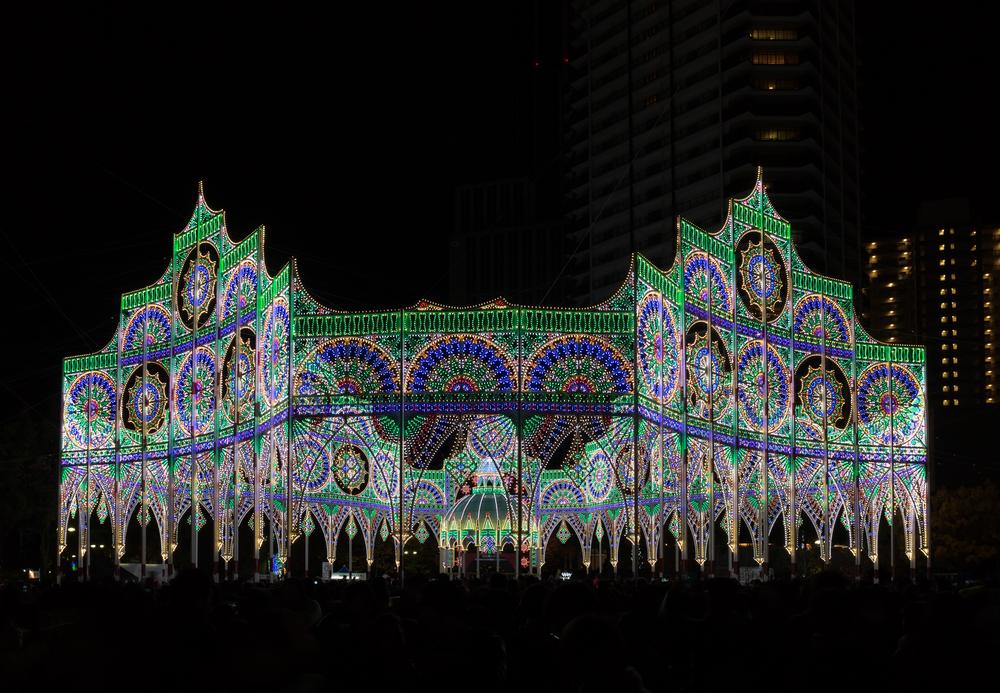 Luces de Navidad en Kobe, Japón