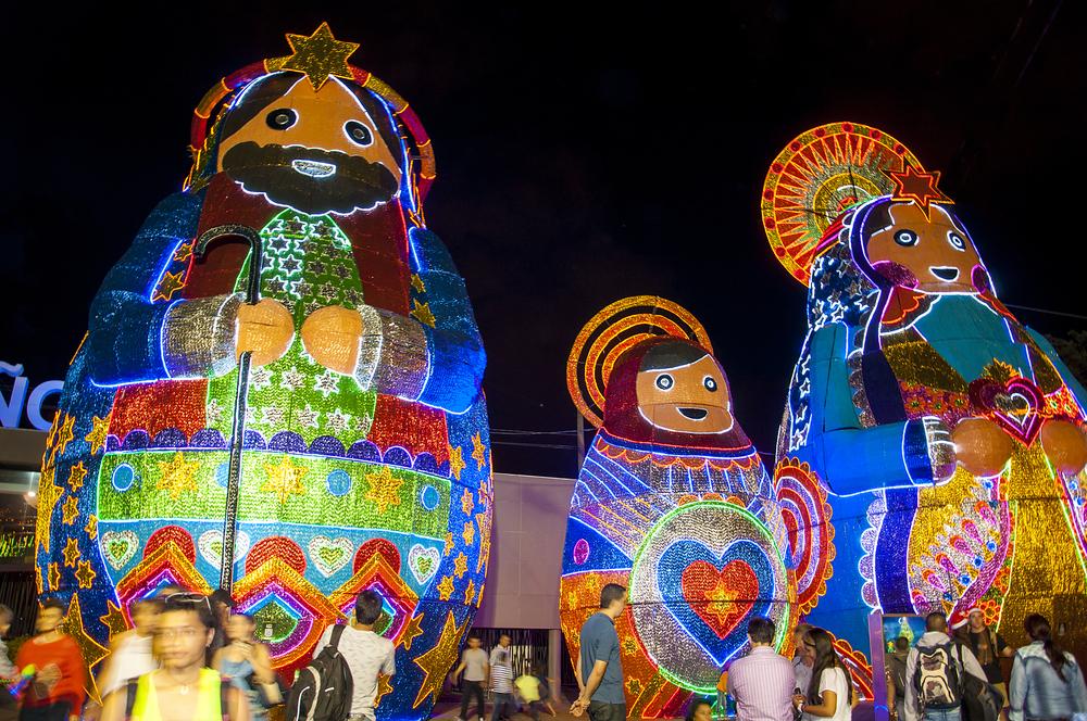 Luces de Navidad en Colombia