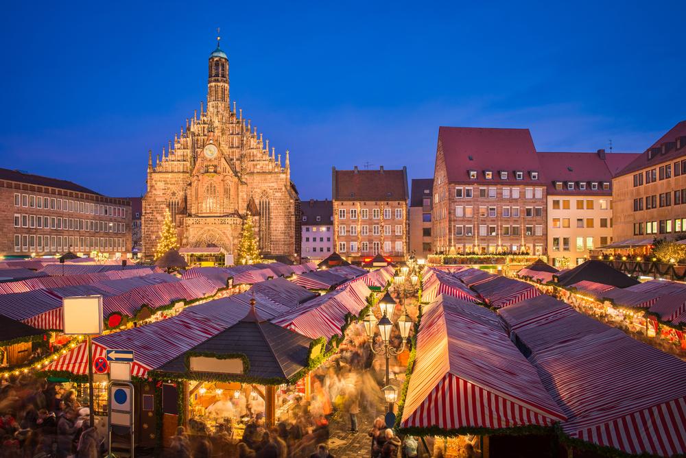 Luces de Navidad mercado de Núremberg