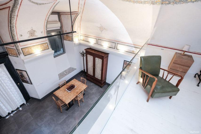 Interior del apartamento Muchosol donde vivir unas auténticas vacaciones en Roma